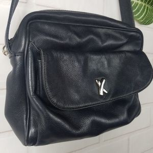 Paloma Picasso black leather handbag made in Italy